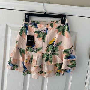 Ruffled mini skirt
